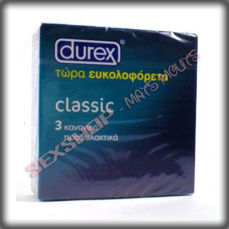 ΠΡΟΦΥΛΛΑΚΤΙΚΑ DUREX CLASSIC 3 ΤΕΜ